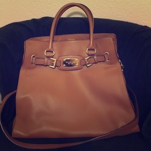 Micheal Kors Hamilton Leather Purse Brown Large